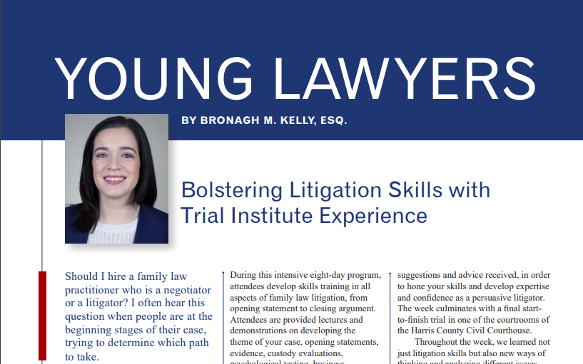 Nevada Lawyer Magazine: Bolstering Litigation Skills with Trial Institute Experience